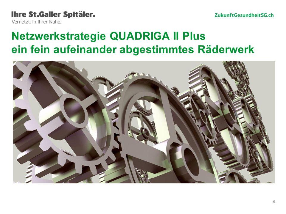 Netzwerkstrategie QUADRIGA II Plus ein fein aufeinander abgestimmtes Räderwerk
