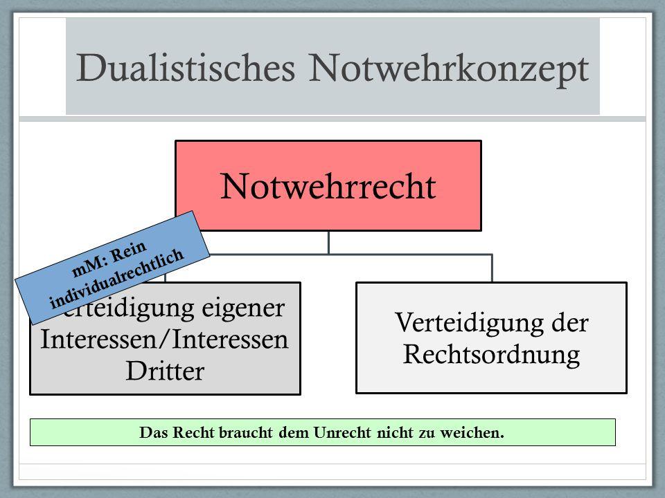 Dualistisches Notwehrkonzept