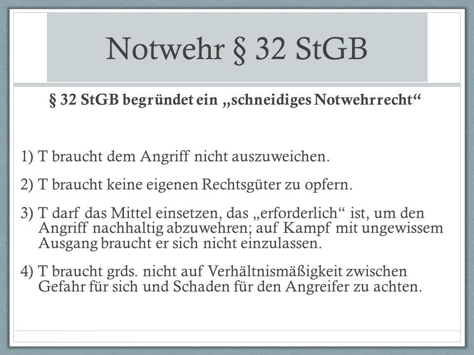 Notwehr § 32 StGB