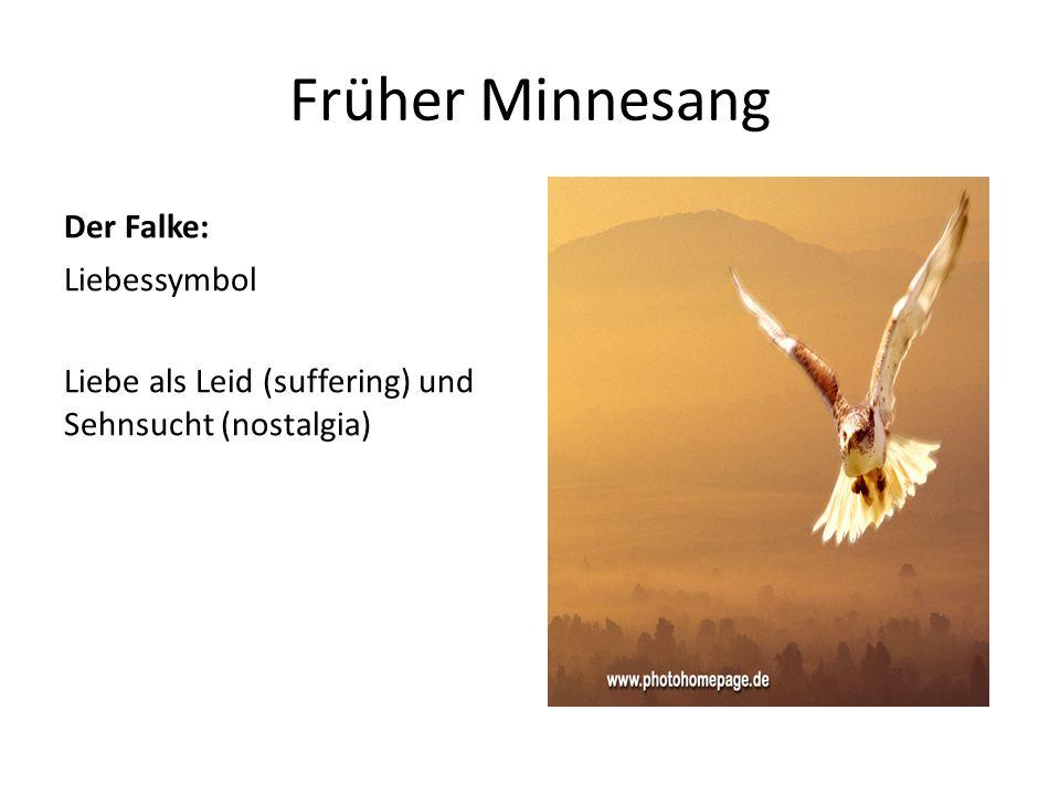 Früher Minnesang Der Falke: