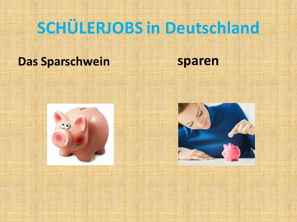 SCHÜLERJOBS in Deutschland
