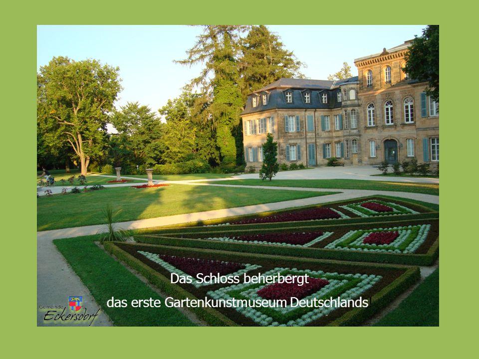Das Schloss beherbergt das erste Gartenkunstmuseum Deutschlands!