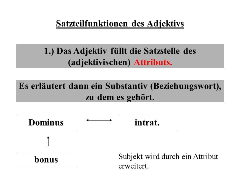 Satzteilfunktionen des Adjektivs