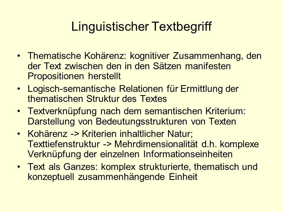 Linguistischer Textbegriff