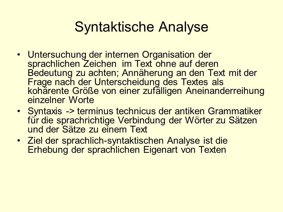 Syntaktische Analyse