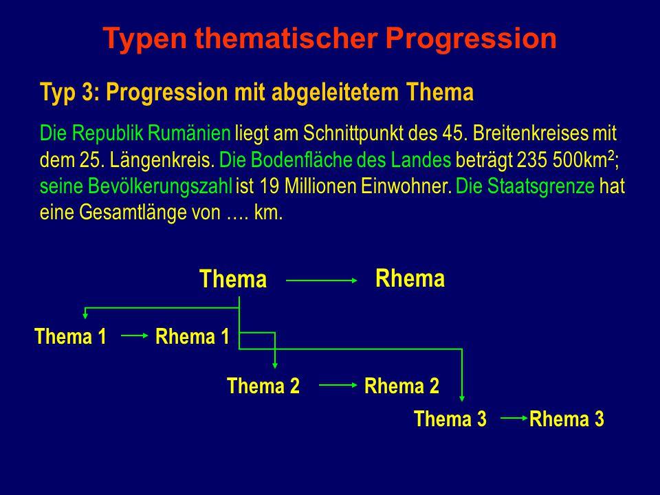 Typen thematischer Progression