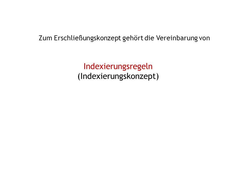 Indexierungsregeln (Indexierungskonzept)