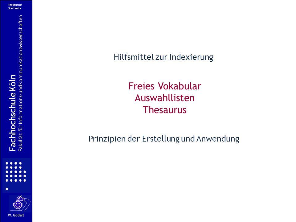 Thesaurus: Startseite