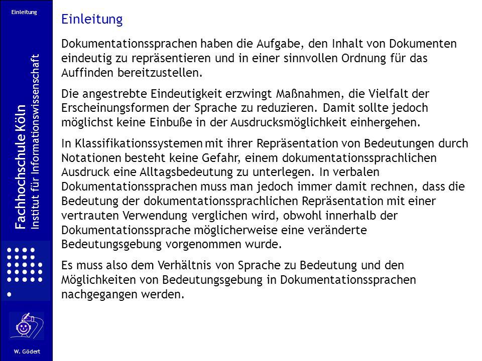 Einleitung Fachhochschule Köln