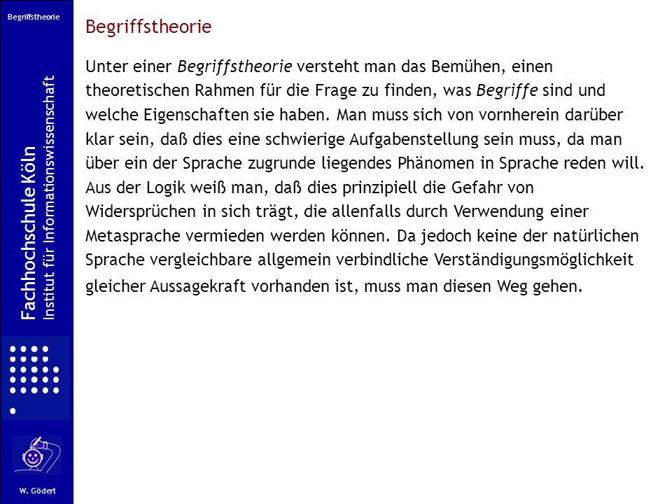 Begriffstheorie Fachhochschule Köln