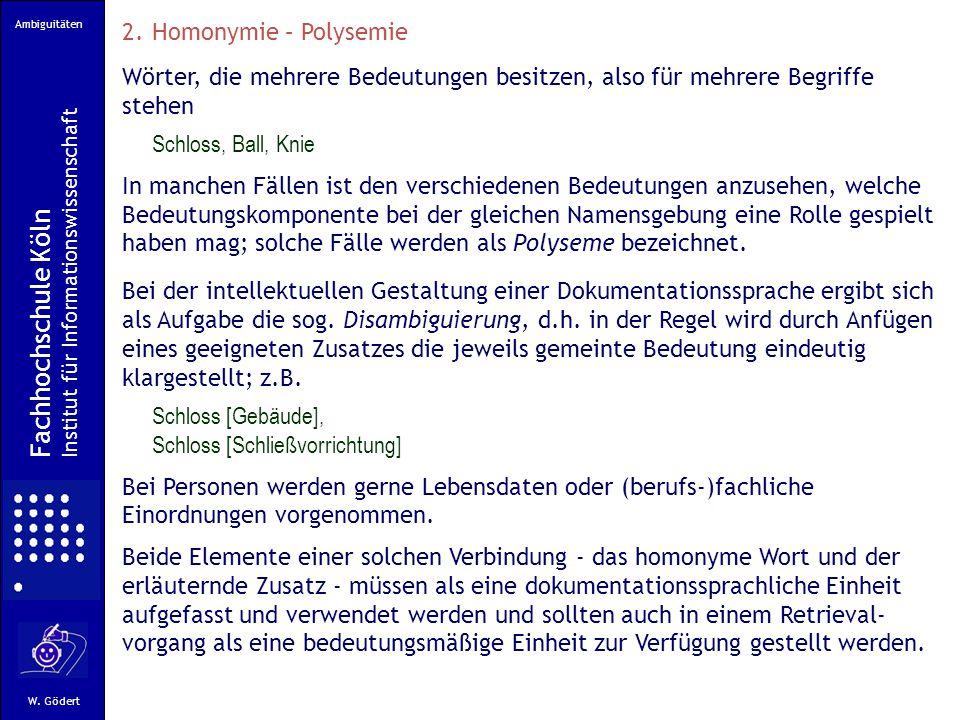 Fachhochschule Köln Homonymie – Polysemie