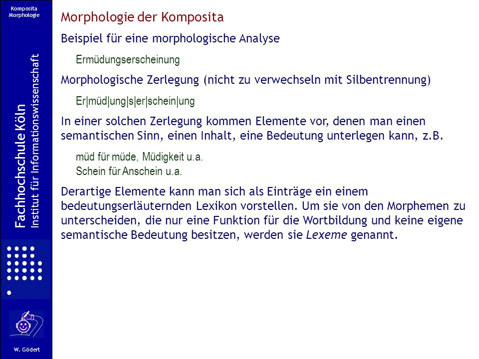 Komposita Morphologie