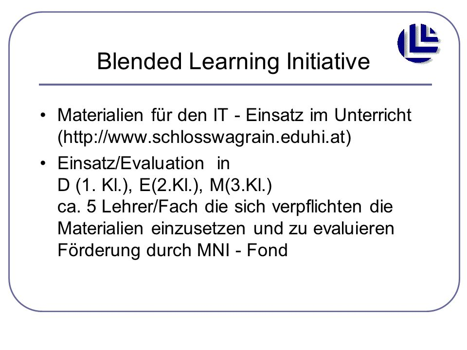 Blended Learning Initiative