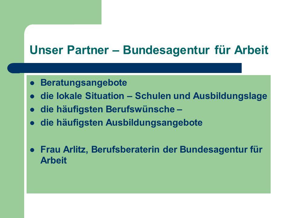 Unser Partner – Bundesagentur für Arbeit