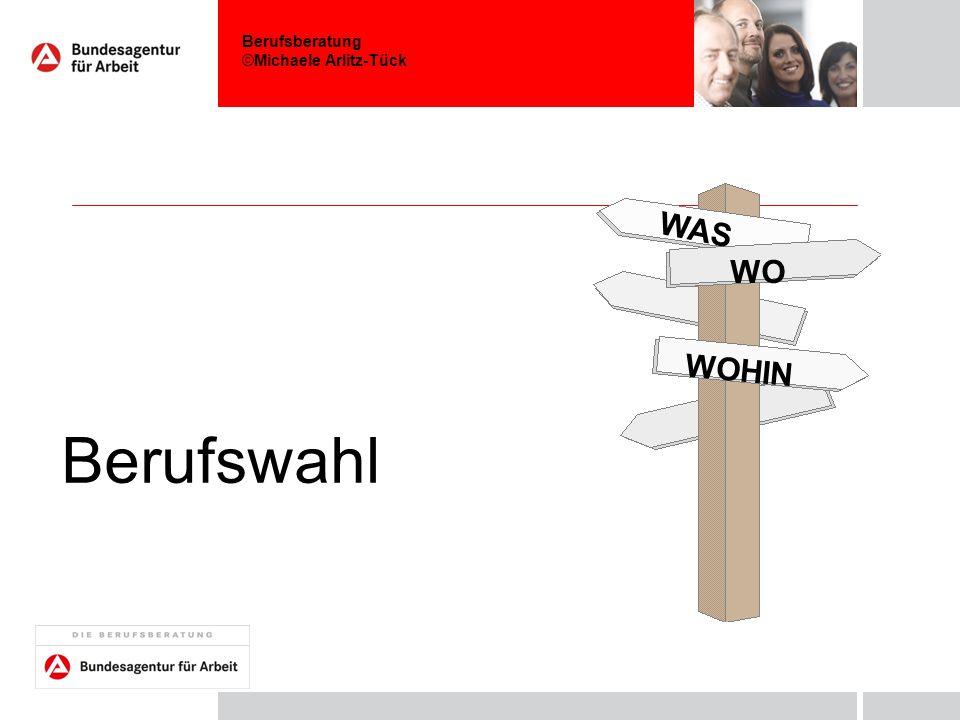 Berufswahl WO WOHIN WAS Nutzungshinweise zur Trennfolie - mit Bild: