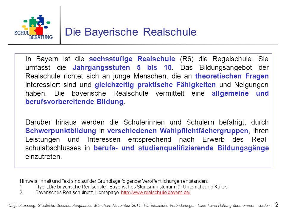 Die Bayerische Realschule