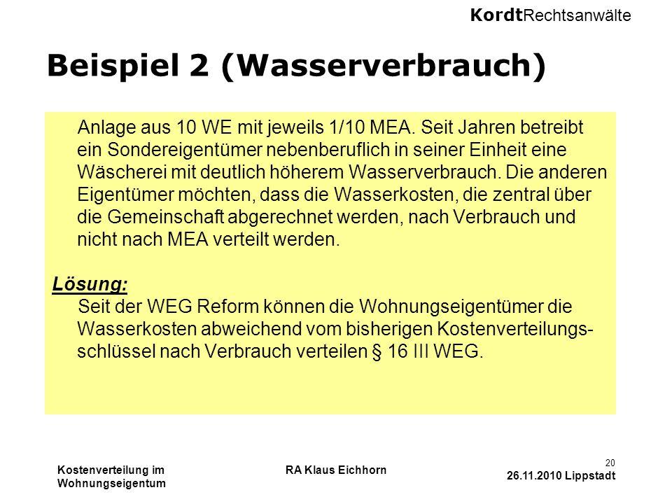 Beispiel 2 (Wasserverbrauch)