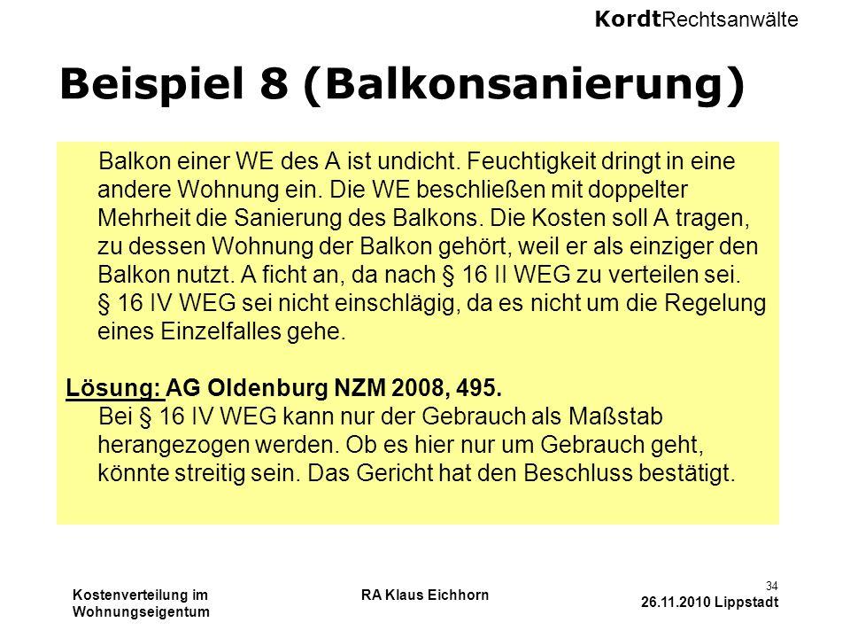 Beispiel 8 (Balkonsanierung)