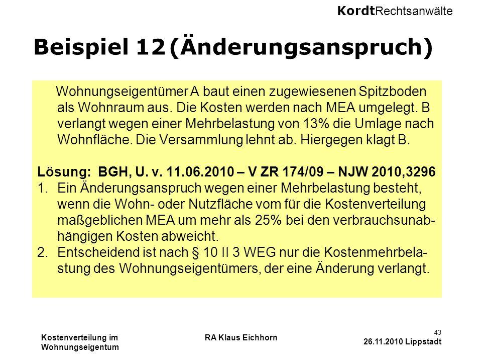 Beispiel 12 (Änderungsanspruch)