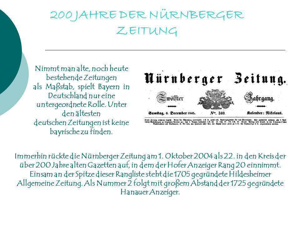 200 JAHRE DER NÜRNBERGER ZEITUNG