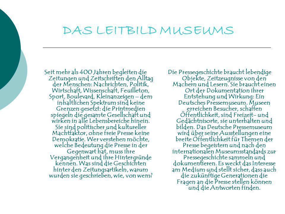 DAS LEITBILD MUSEUMS