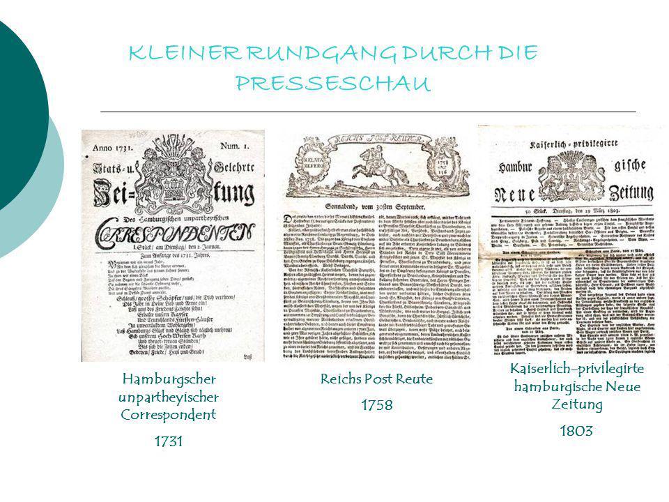 KLEINER RUNDGANG DURCH DIE PRESSESCHAU