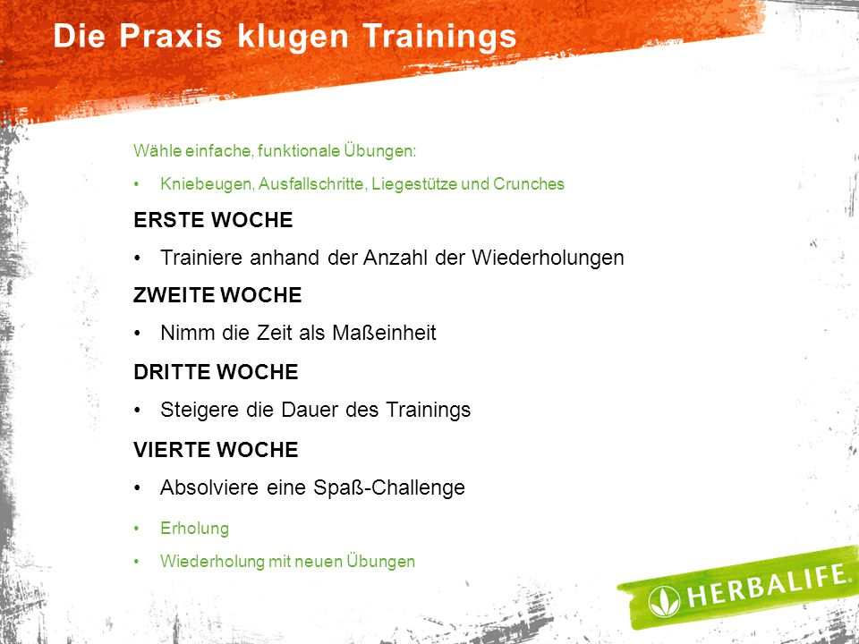 Die Praxis klugen Trainings