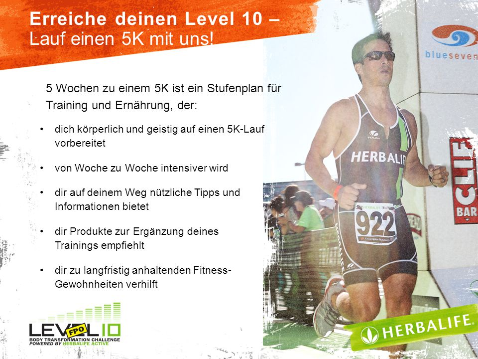 Erreiche deinen Level 10 – Lauf einen 5K mit uns!