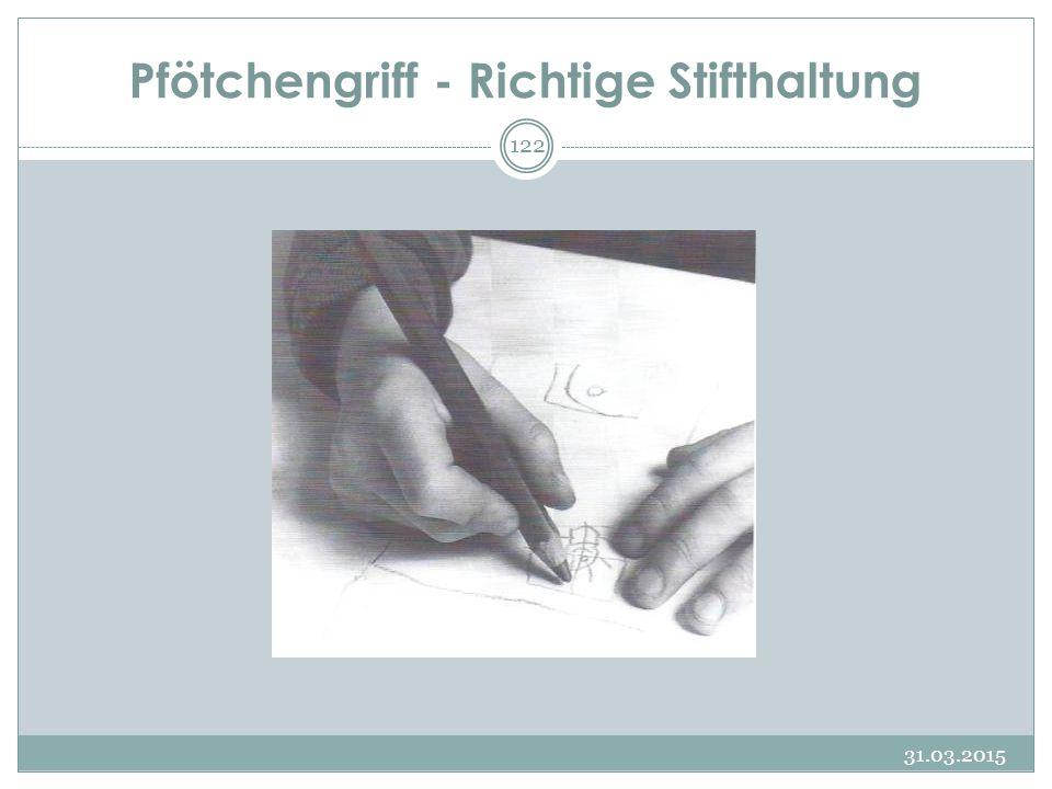 Pfötchengriff - Richtige Stifthaltung