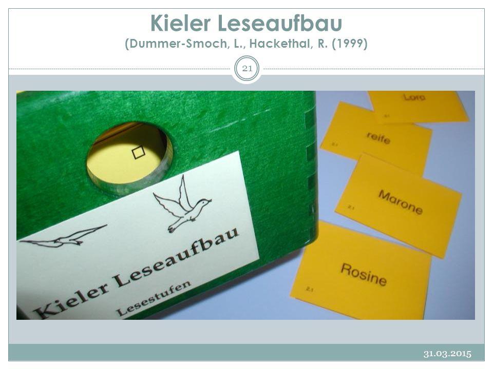 Kieler Leseaufbau (Dummer-Smoch, L., Hackethal, R. (1999)