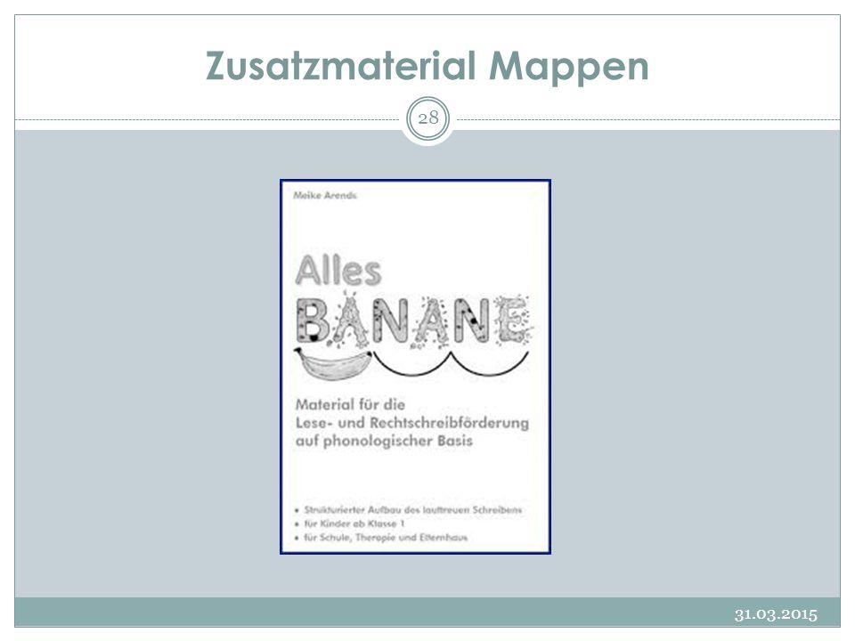 Zusatzmaterial Mappen
