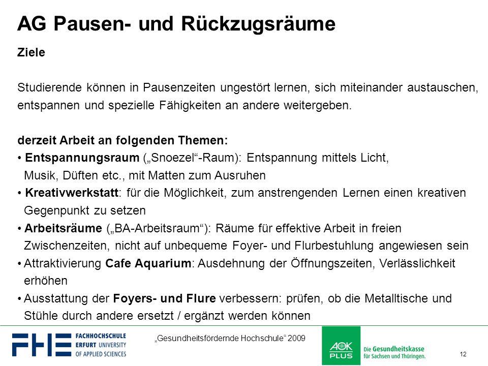AG Pausen- und Rückzugsräume
