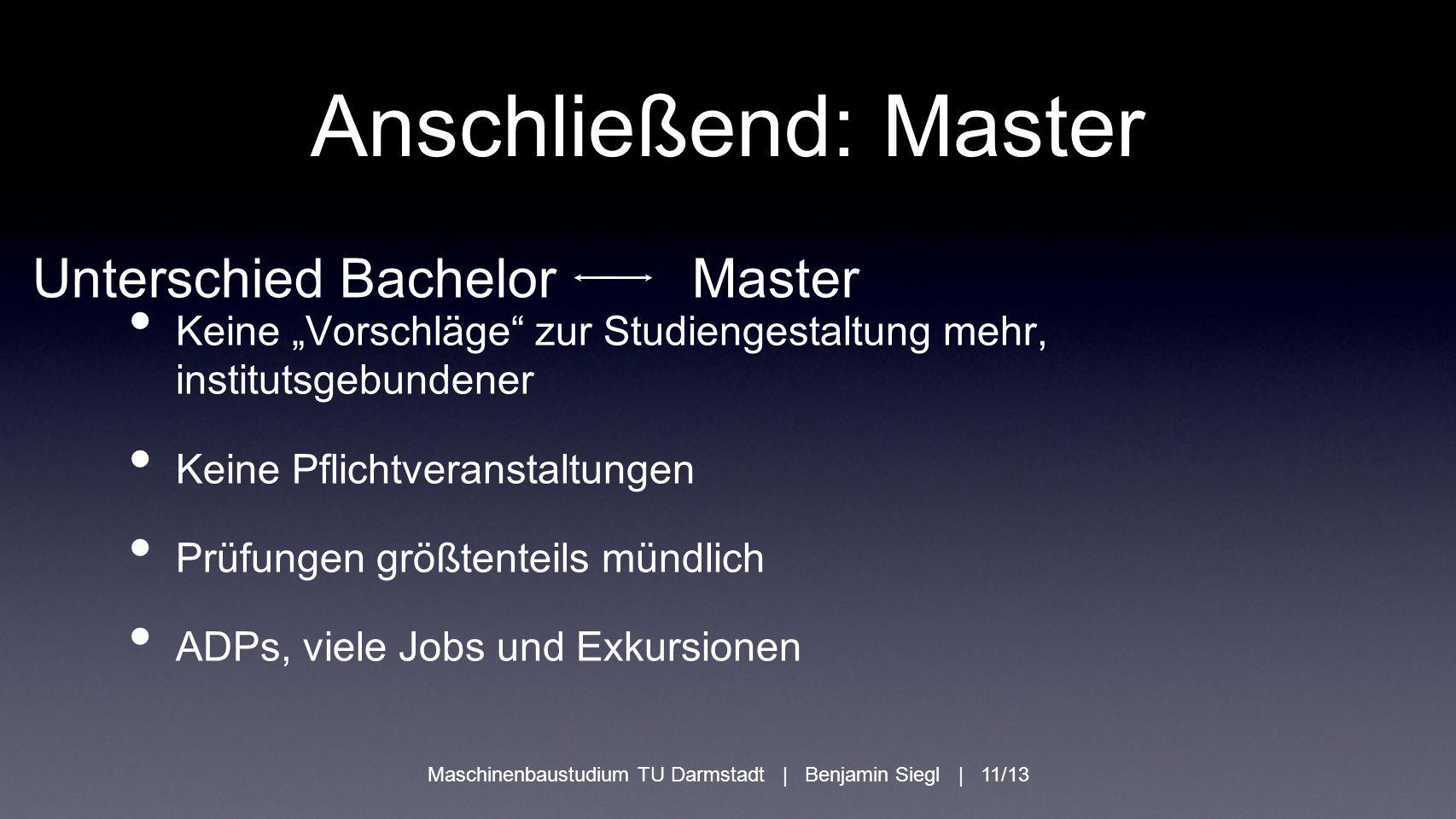 Anschließend: Master Unterschied Bachelor Master