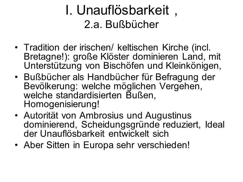 I. Unauflösbarkeit , 2.a. Bußbücher