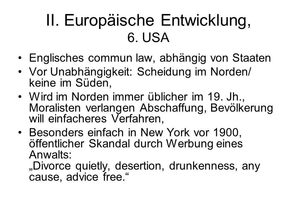 II. Europäische Entwicklung, 6. USA