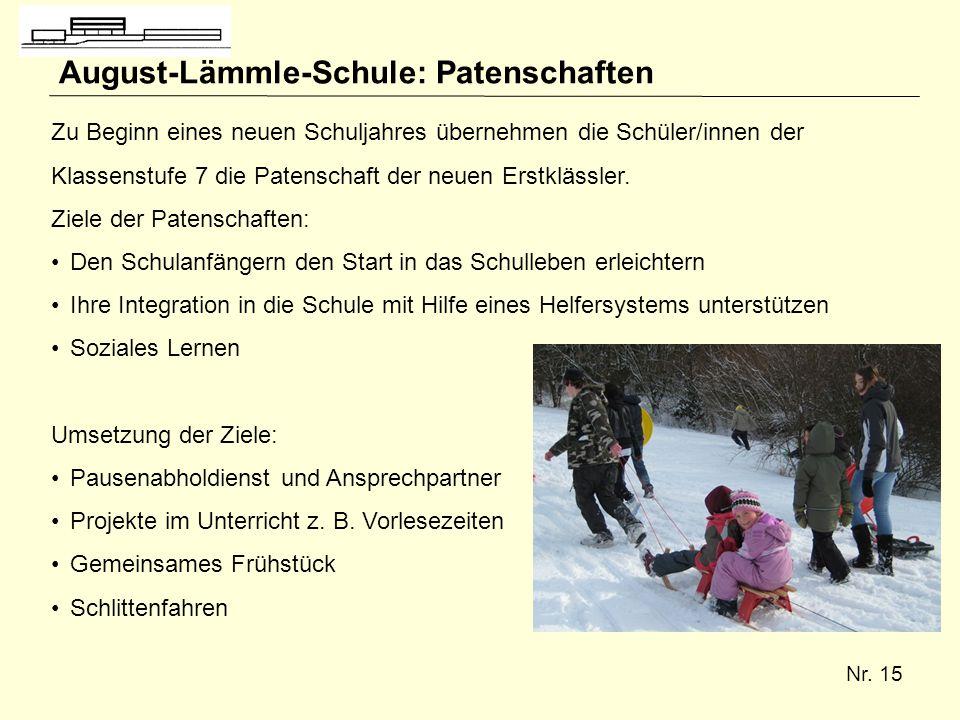 August-Lämmle-Schule: Patenschaften