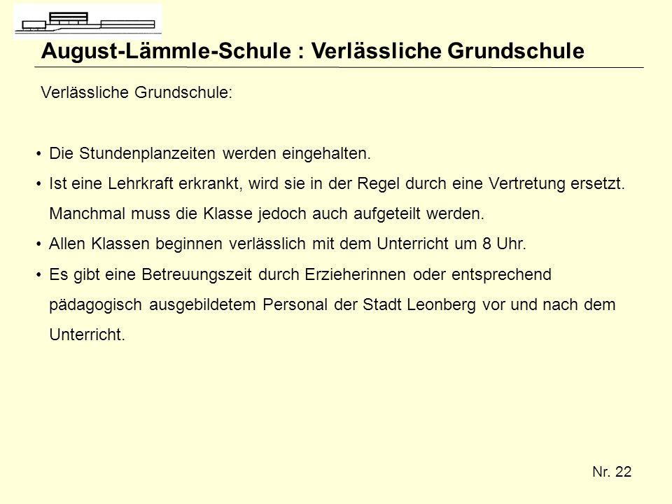 August-Lämmle-Schule : Verlässliche Grundschule