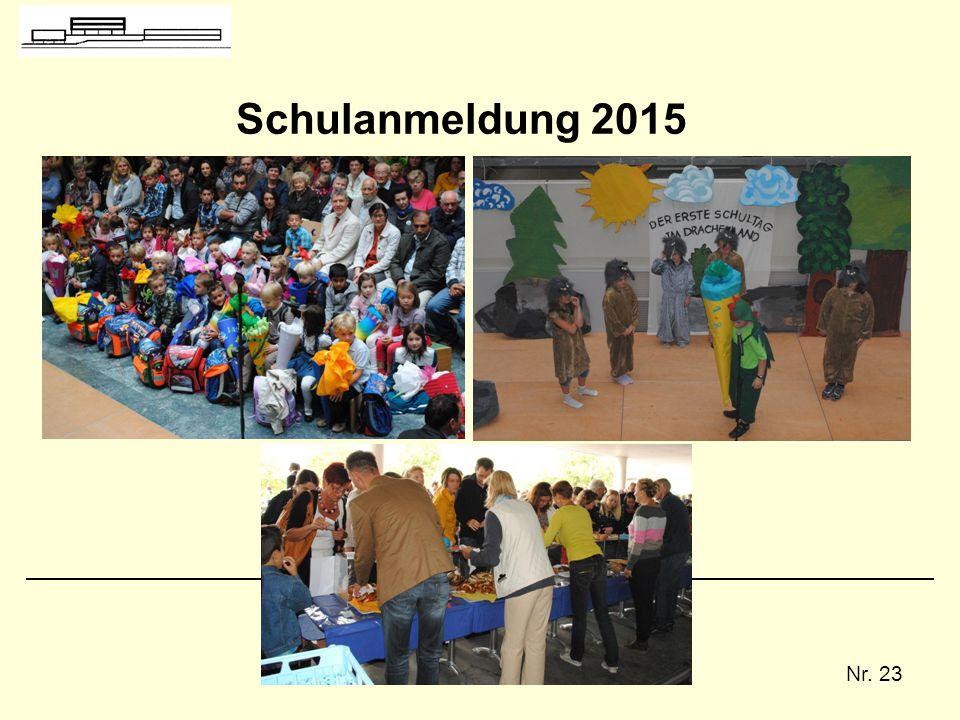 Schulanmeldung 2015