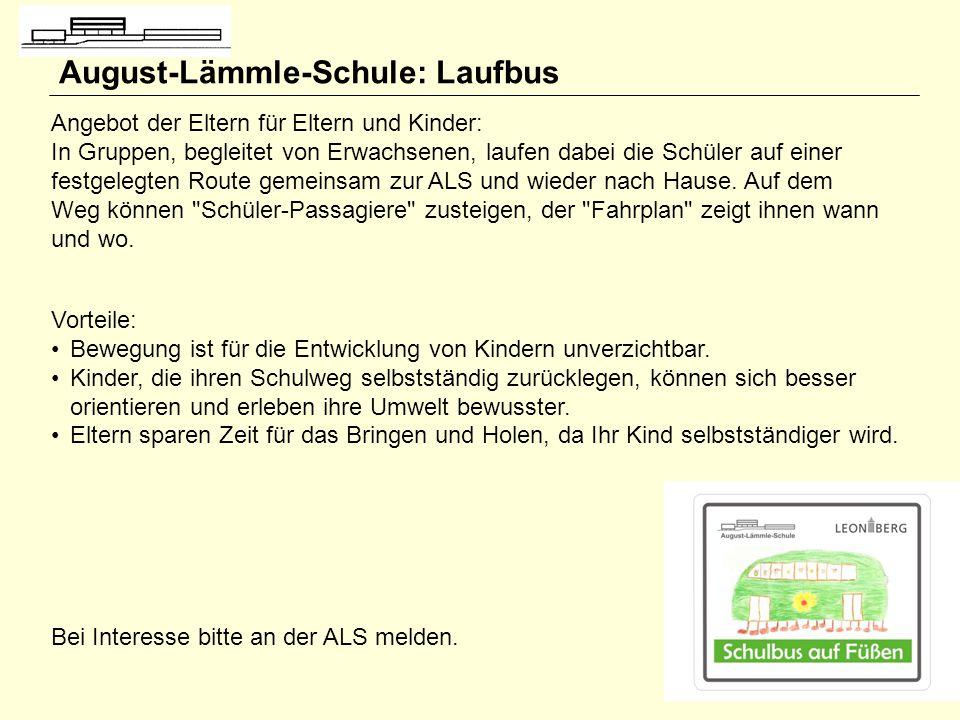 August-Lämmle-Schule: Laufbus