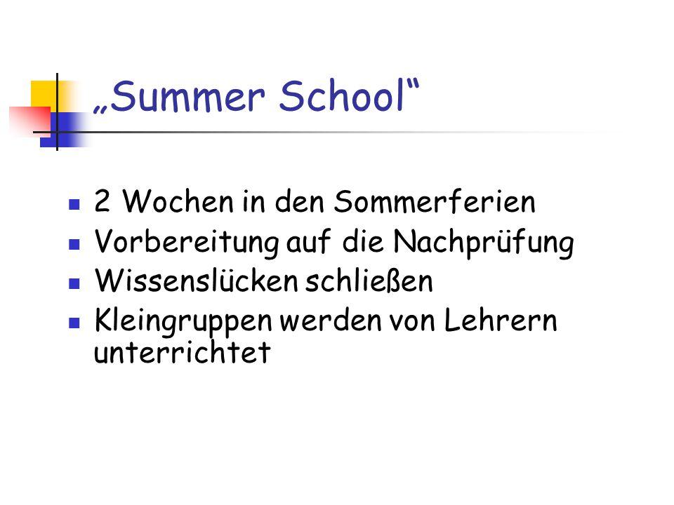 """""""Summer School 2 Wochen in den Sommerferien"""