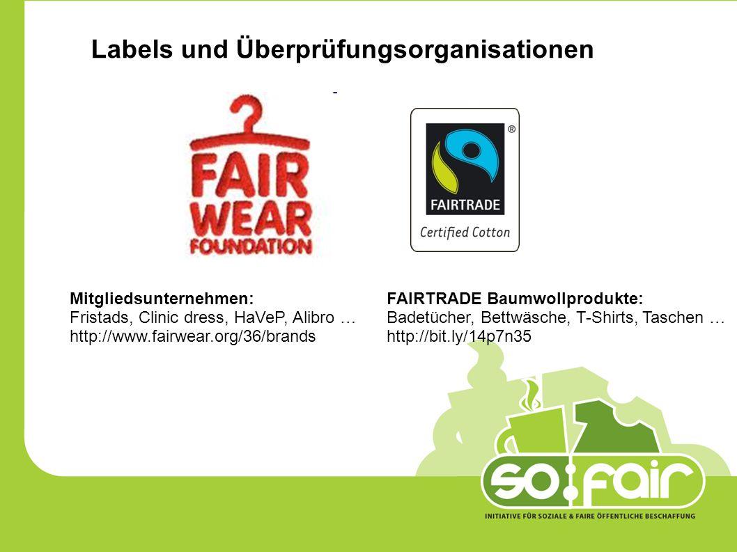 Labels und Überprüfungsorganisationen