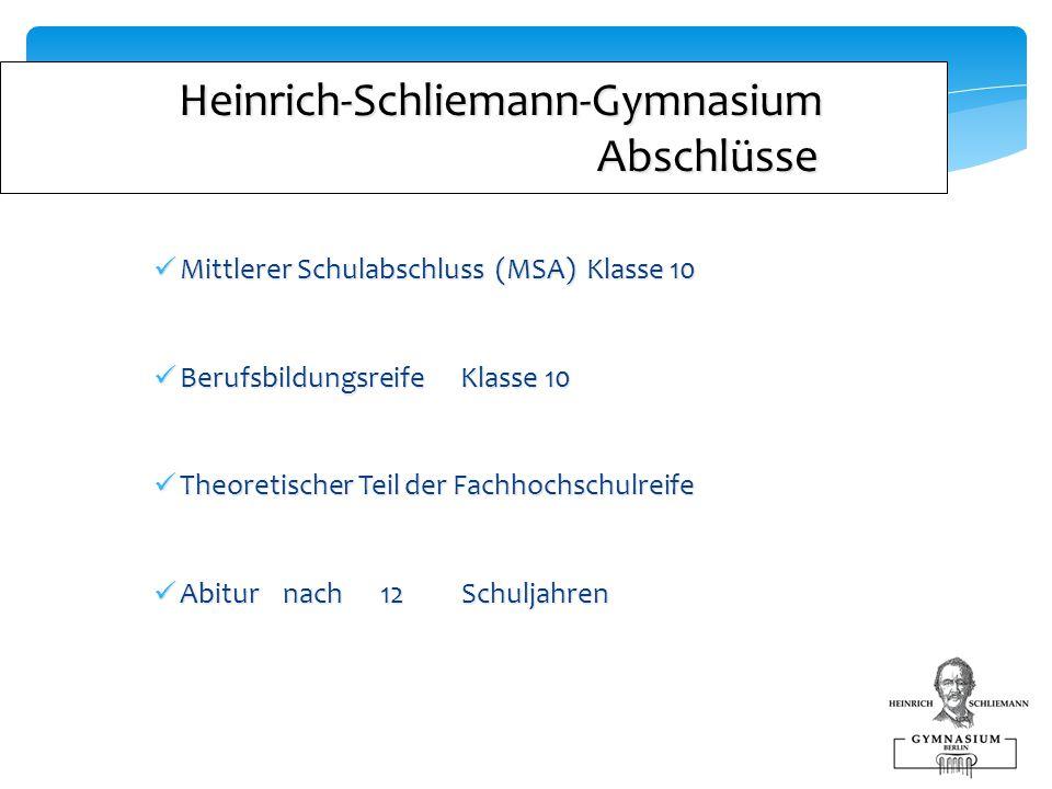 Heinrich-Schliemann-Gymnasium Abschlüsse