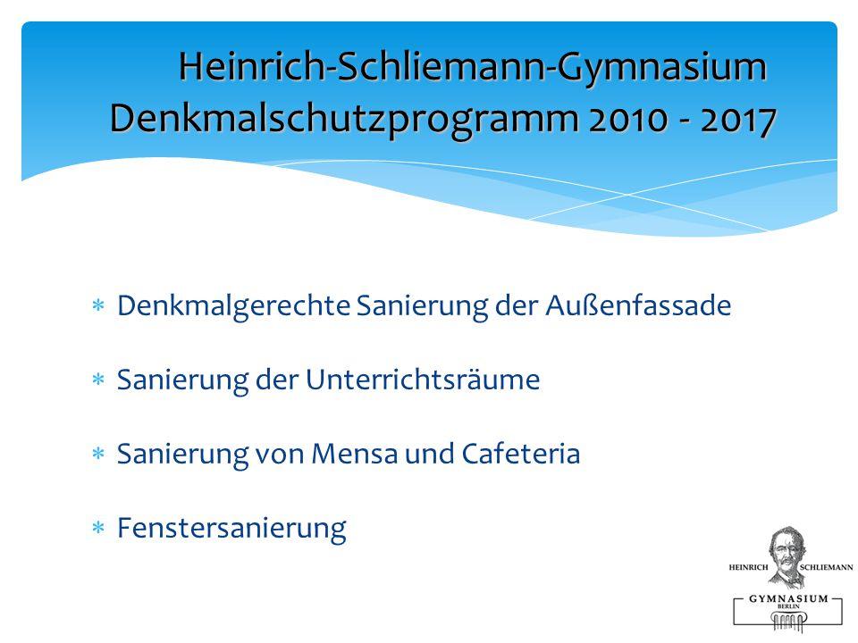 Heinrich-Schliemann-Gymnasium Denkmalschutzprogramm 2010 - 2017