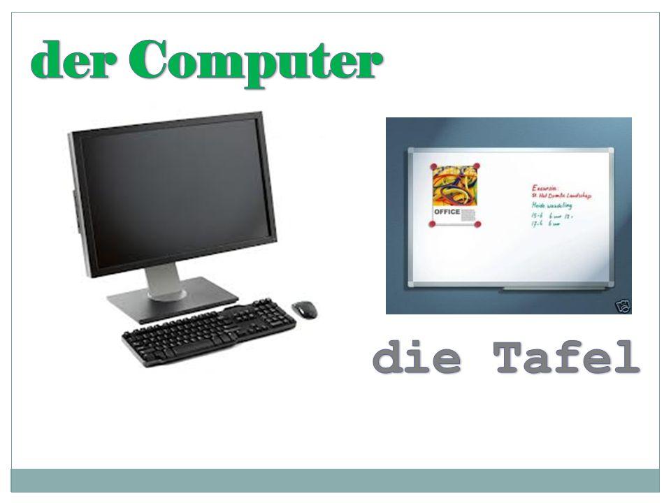 der Computer die Tafel