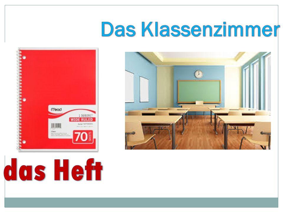 Das Klassenzimmer das Heft