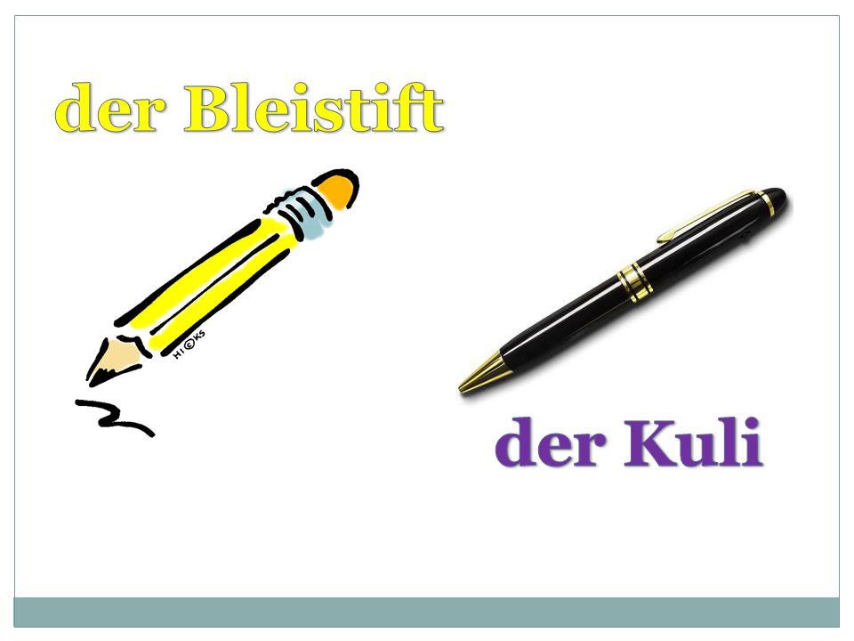 der Bleistift der Kuli