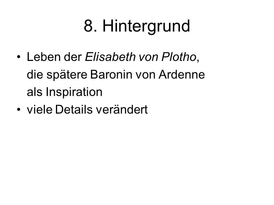 8. Hintergrund Leben der Elisabeth von Plotho,