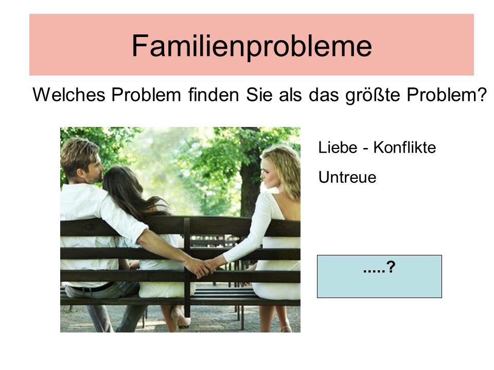 Familienprobleme Welches Problem finden Sie als das größte Problem