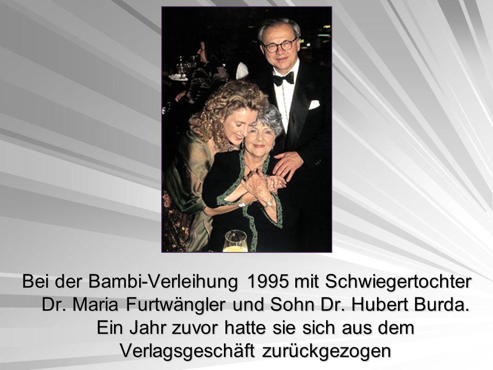 Bei der Bambi-Verleihung 1995 mit Schwiegertochter Dr