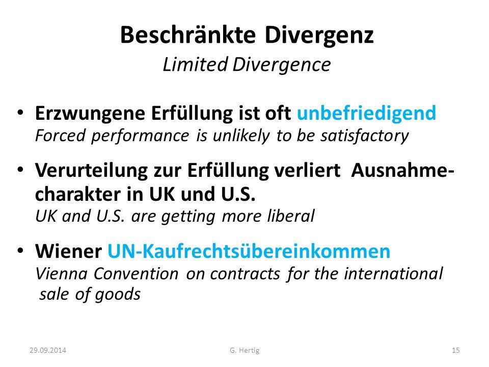 Beschränkte Divergenz Limited Divergence